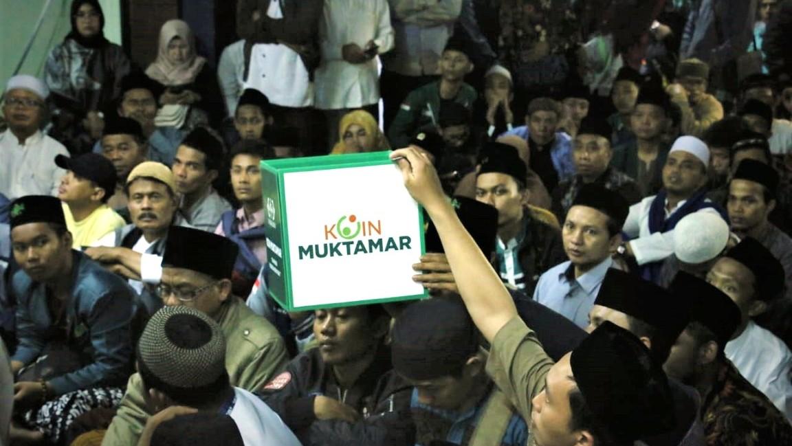 Jamaah Haul ke-10 Gus Dur di PBNU Sukseskan Gerakan Koin Muktamar