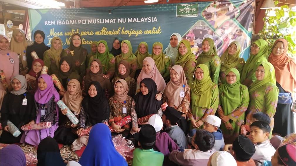 Muslimat NU Malaysia Gandeng Mahasiswa KKN UIN Palembang Sukseskan Kem Ibadah