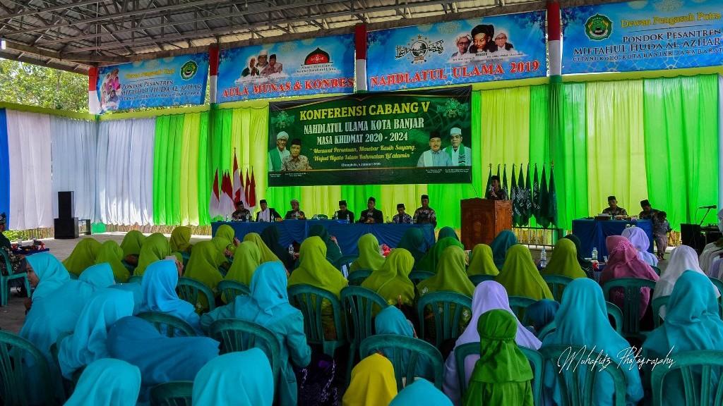 Duet KH Mu'in Abdurrahim-KH Roidi Al Farizi Pimpin PCNU Kota Banjar