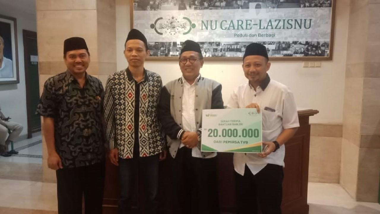 Melalui LAZISNU, TV9 Salurkan Bantuan untuk Warga Terdampak Banjir