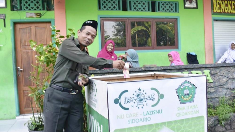 Sukseskan Muktamar NU, SMK Itaba Sidoarjo Galang Koin