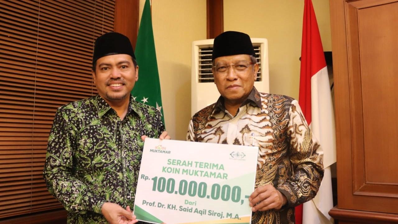 Sukseskan Koin Muktamar, Ketum dan Bendum PBNU Donasikan Masing-masing 100 Juta Rupiah