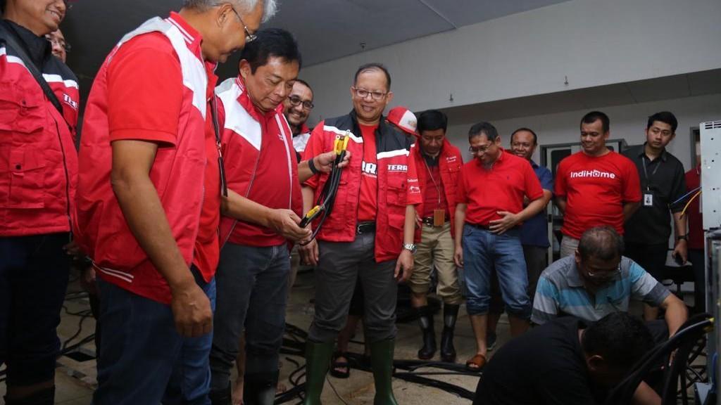 Siaga Banjir, Telkom Siapkan Perangkat Jaringan dan Posko Masyarakat