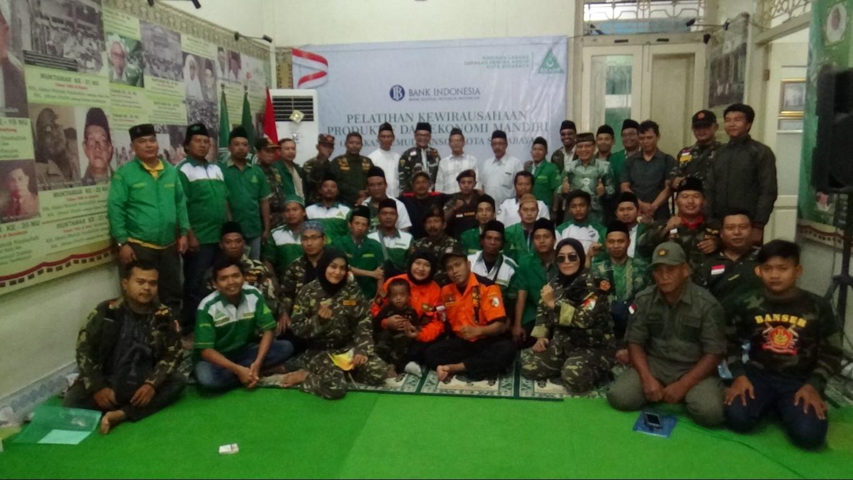 Bangkitkan Spirit Nahdlatut Tujjar, Ansor Surabaya Kembangkan Kewirausahaan bersama BI