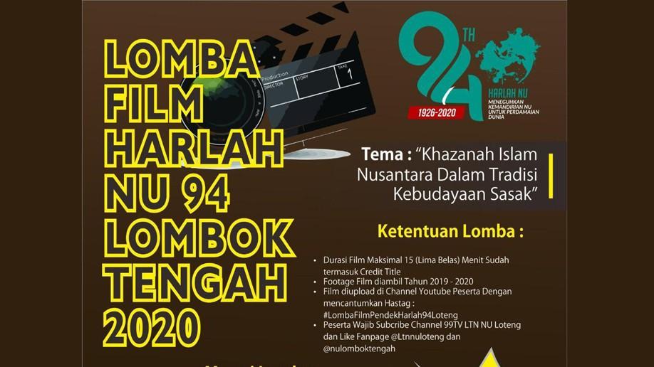 Peringati Harlah Ke-94, NU Lombok Tengah Gelar Lomba Film Pendek