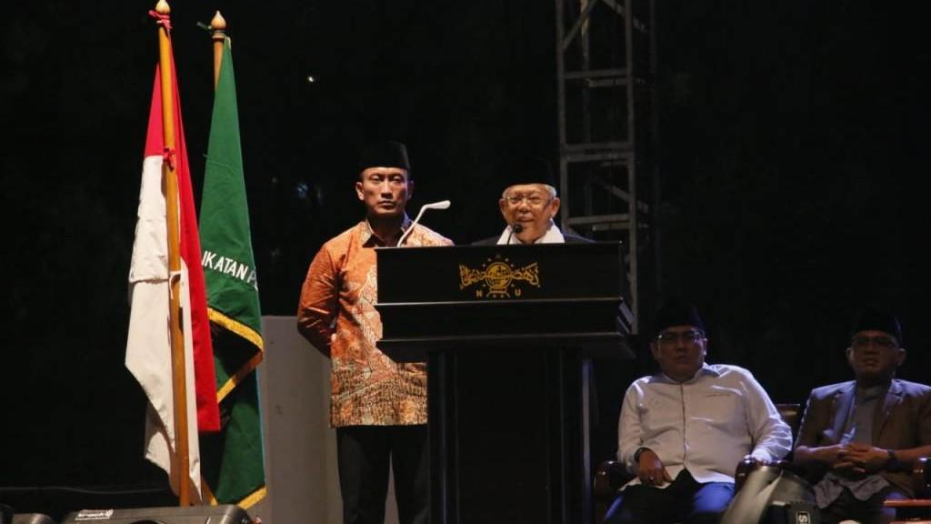 Wapres Ma'ruf Amin Tegaskan Kader IPNU Potret Masa Depan NU