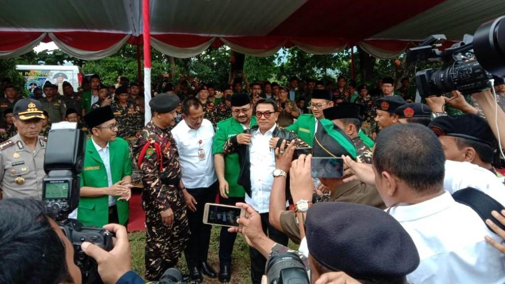 Moeldoko Hadiri Apel Kebangsaan Banser di Pasuruan