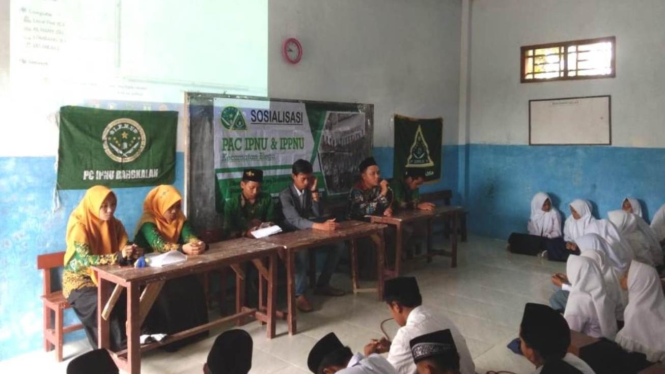 Sosialisasi Program, IPNU-IPPNU Blega Bangkalan Turun ke Sekolah-sekolah