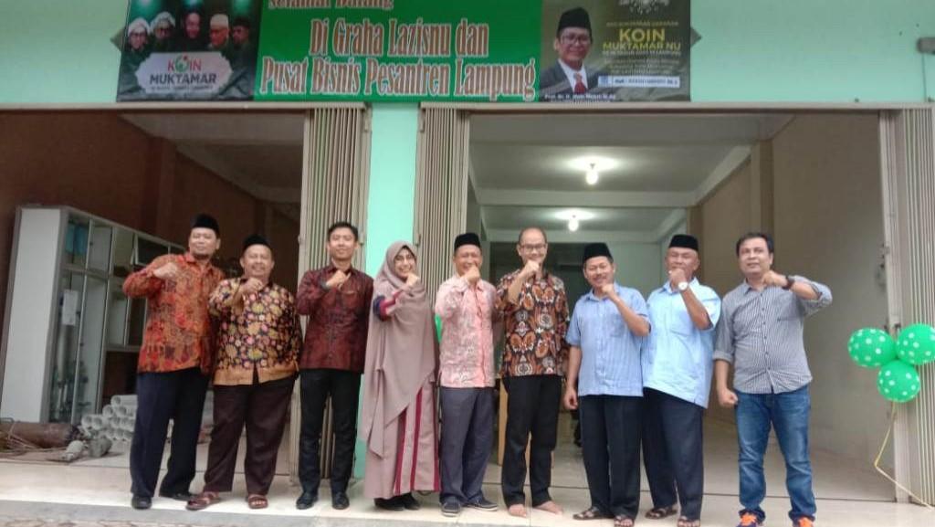 Persiapan Muktamar, Gedung Graha LAZISNU Lampung Diresmikan