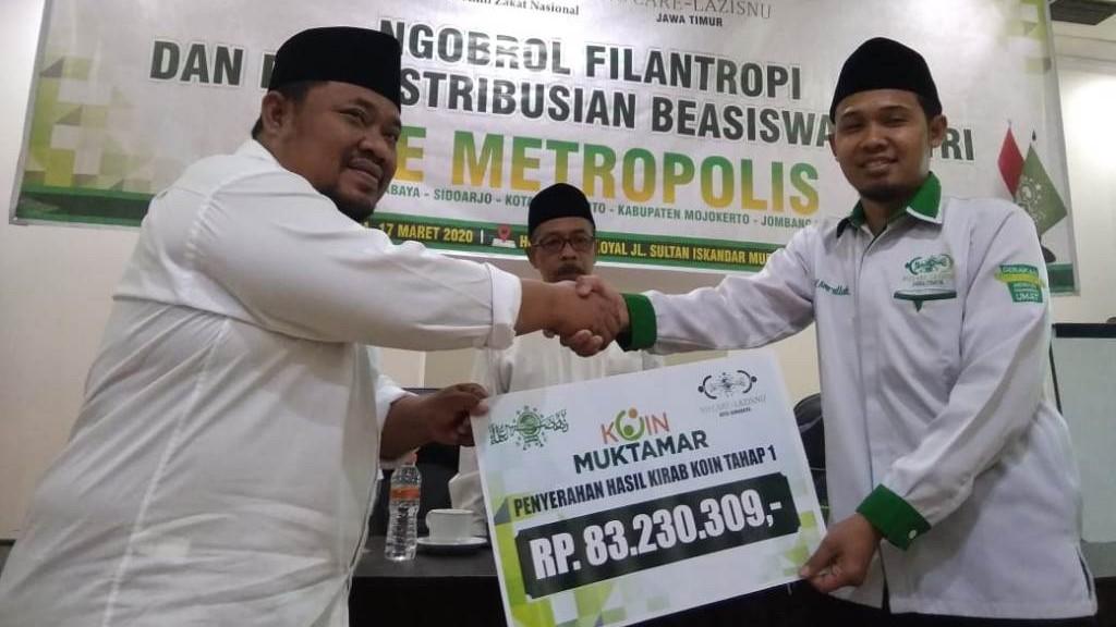 Hasil Penggalangan Koin Muktamar di Kota Surabaya Capai 83 Juta Lebih