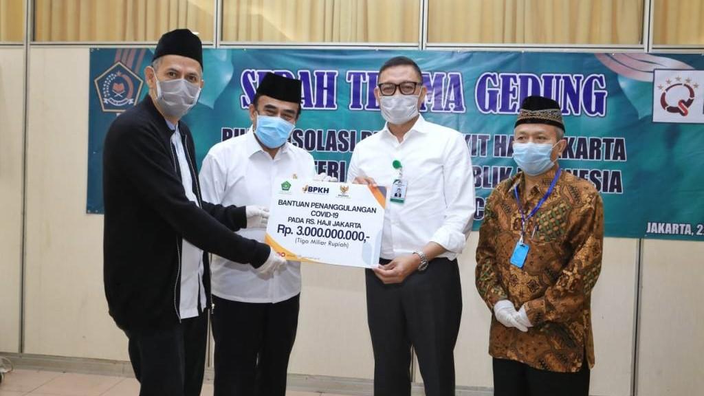Kemenag Serahkan Gedung Asrama Haji untuk Ruang Isolasi Pasien Covid-19