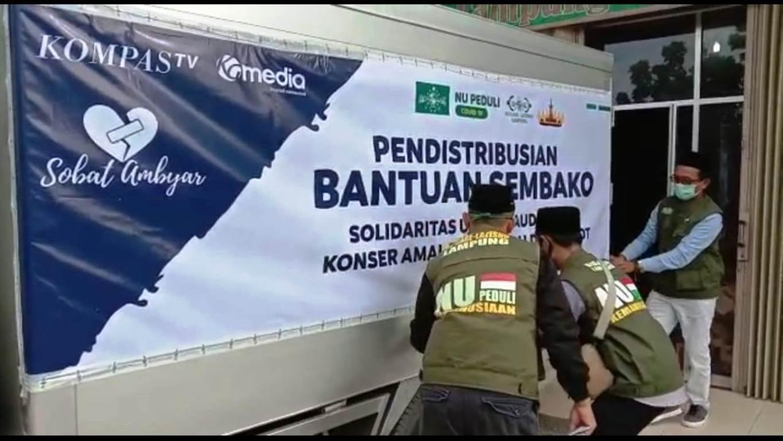 LAZISNU Lampung Kirim Logistik Bencana Puting Beliung di Tulang Bawang