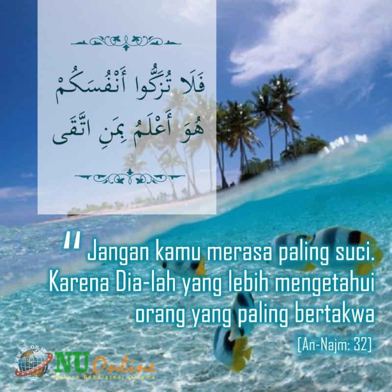 Pesan Al Quran Untuk Mereka Yang Sok Suci
