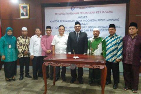 Bank Indonesia Lampung Jalin Kerja Sama dengan Lima Pesantren