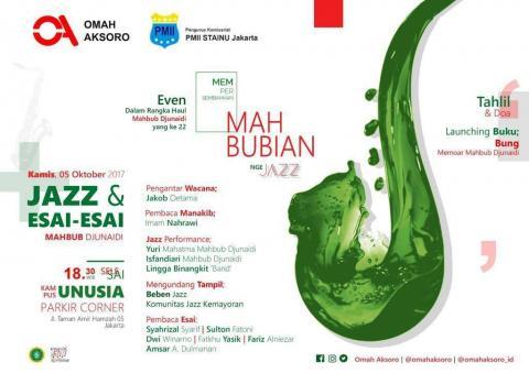 Besok, Ada Jazz di Haul Ke-22 H. Mahbub Djunaidi