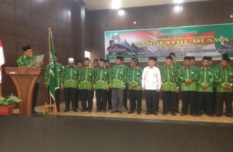 Lantik PCNU Kota Padang, Helmy Faishal Ingatkan Tantangan NU
