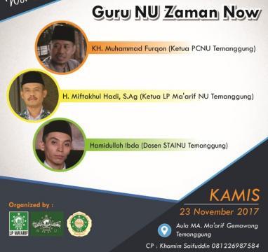 Workshop Literasi Temanggung, Cetak Guru NU Zaman Now
