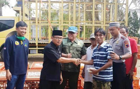 Kementerian Pertanian Saluran Ribuan Ekor Ayam di Jatilawang