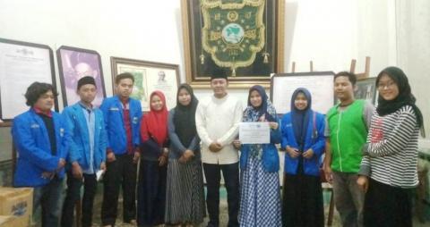 Lewat LAZISNU, PMII Taswirul Afkar Salurkan Bantuan Tsunami
