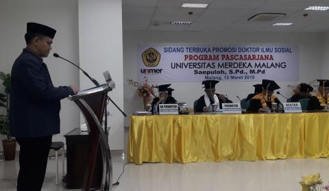 Ketua Pergunu Jabar Dikukuhkan sebagai Doktor Ilmu Sosial di Malang