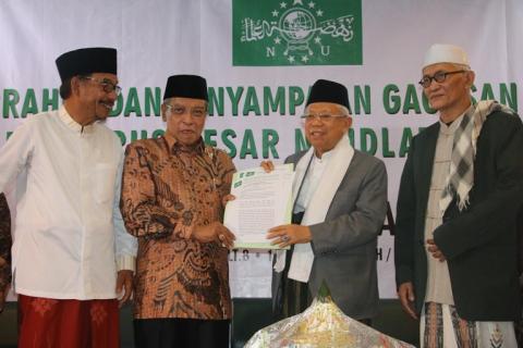 Amanat PBNU pada Jokowi dan KH Ma'ruf Amin
