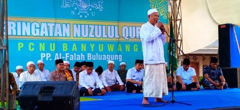Peringatan Nuzulul Qur'an PCNU Banyuwangi, Jatim.