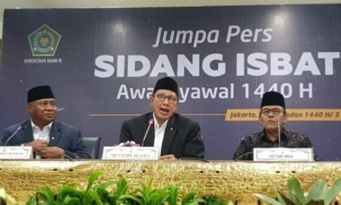 Govt announces Idul Fitri 1440 H falls on Wednesday, June 5