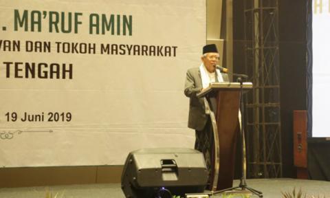 Kiai Ma'ruf Amin: Sistem Khilafah Cederai Kesepakatan Pendiri NKRI