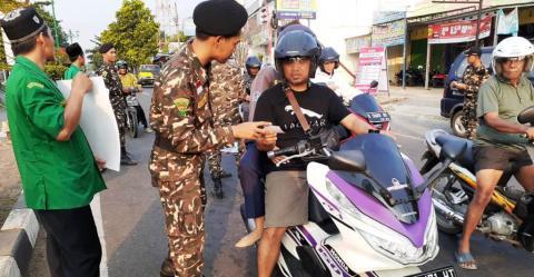 Baanar Pekalongan Kenalkan Bahaya Narkoba kepada Pengguna Jalan