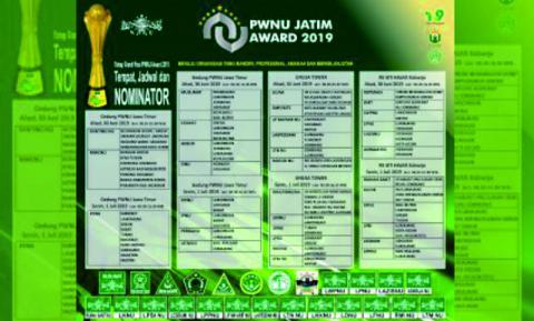 Grand Final PWNU Jatim Award 2019, Jombang Kirim 9 Wakil