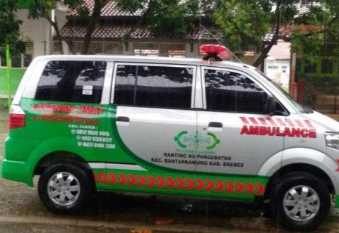 NU Pangebatan Brebes Miliki Ambulans Gratis dari Koin NU