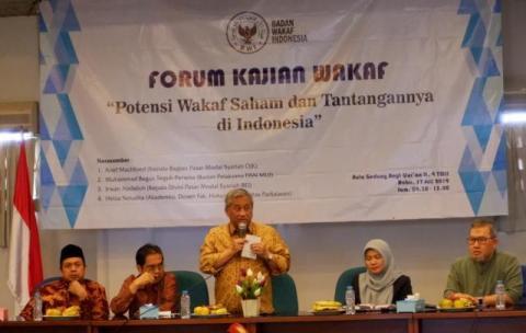 Badan Wakaf Indonesia Kaji Potensi dan Tantangan Wakaf Saham