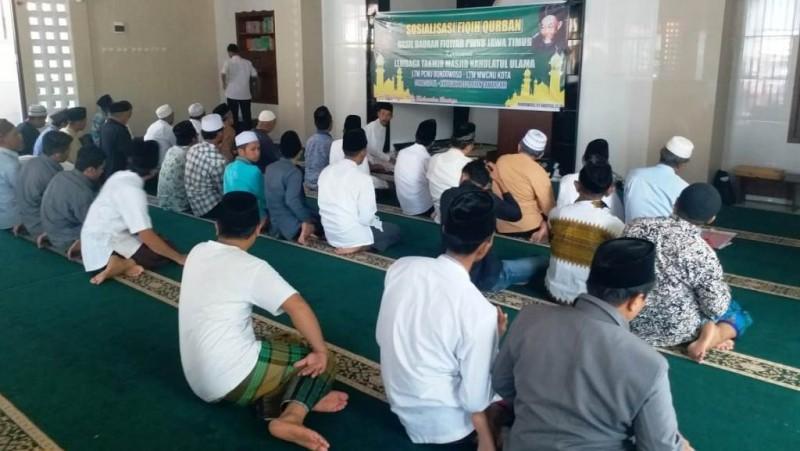 Lembaga Takmir Masjid NU Bondowoso Gelar Praktik Kurban