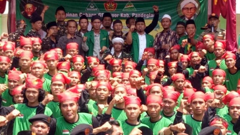 Ratusan Banser di Pandeglang Komitmen Jaga Aswaja di Bumi Jawara