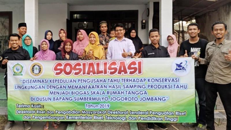 Dosen Unwaha Jombang Ubah Limbah Tahu Jadi Biogas