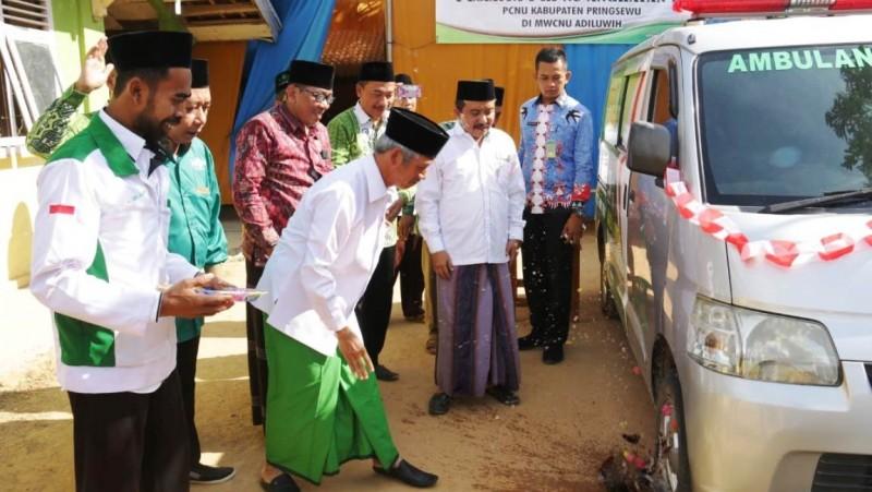 Bupati Luncurkan Ambulans 'Koin' LAZISNU Pringsewu