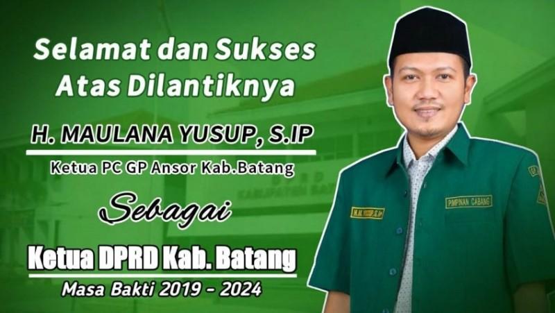 Ketua GP Ansor Batang Pimpin DPRD