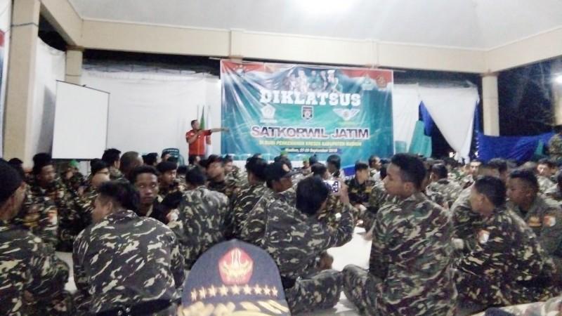 Diklatsus Banser Jatim di Madiun