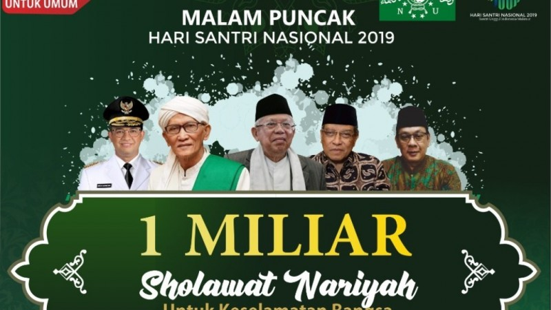 Peringati Hari Santri, Warga NU Baca 1 Miliar Shalawat Nariyah