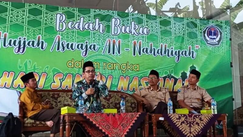 Bedah buku Hujjah Aswaja An-Nahdliyah di MAN 4 Jombang, Jatim. (Foto: NU Online/panitia)