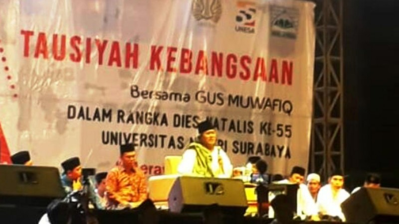 Tausiyah Kebangsaan Gus Muwafiq di Unesa: Cintailah Indonesia
