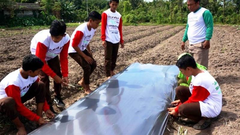 Siswa di Pesantren Sirajul Huda Lombok Tengah Dilatih Bertani