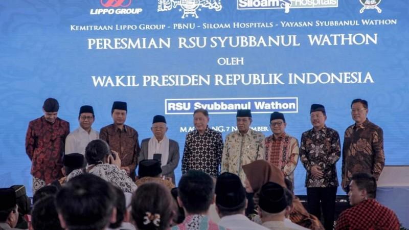 Wapres Kiai Ma'ruf Resmikan Rumah Sakit Syubbanul Wathon Tegalrejo