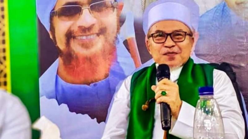 Al-Mursyid Syaikh H Hasanoel Basri HG (Abu Mudi) mengisi pengajian rutin tasawuf, tauhid, dan fiqih atau Tastafi di Masjid Raya Baiturrahman Banda Aceh,  (Foto: NU Online/Bang Helmi)