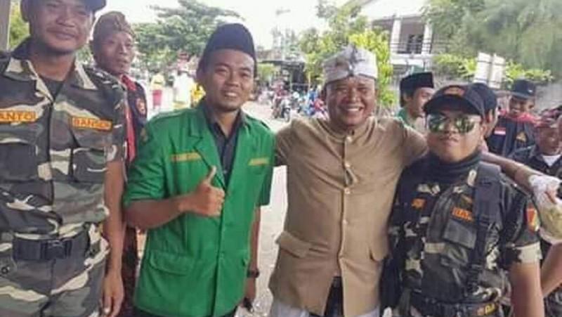 Keakraban umat Hindu dan Islam di Bali (Foto: GP Ansor Bali)