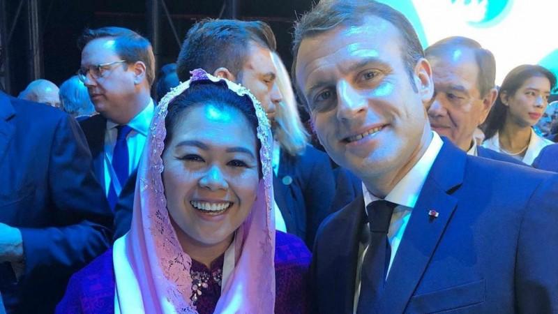 Unggah Swafoto bareng Presiden Perancis, Yenny Wahid Ingatkan Perdamaian