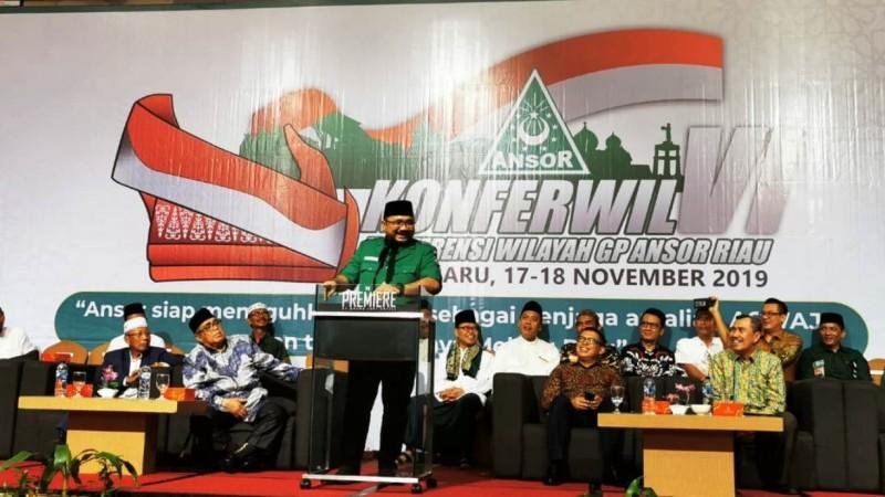 Gubernur Riau Ajak Ansor dan Banser Atasi Karhutla