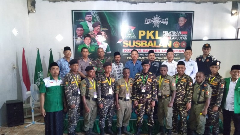 Para Pemuda Papua Barat Ikut PKL dan Susbalan Ansor-Banser