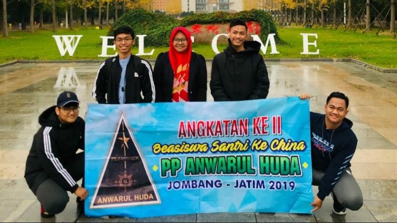 Lima Santri Anwarul Huda Jombang Peroleh Beasiswa ke Jiangsu China