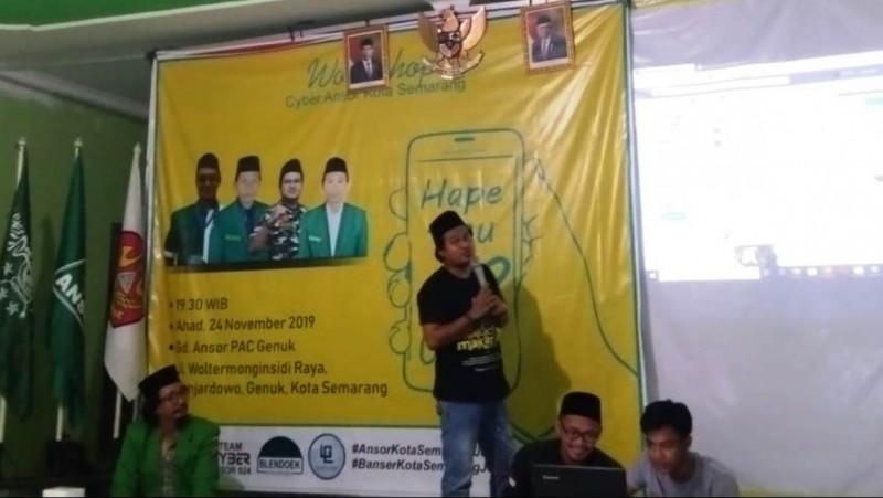 Perkuat Dakwah, Ansor di Semarang Siapkan Tim Siber